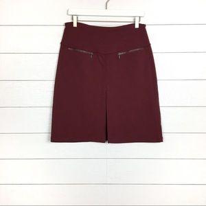 Atleta A-Line Pleat Skirt Burgundy Zipper